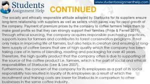 essay on starbucks csr practices continued 18