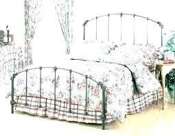 wrought iron king bed. Wrought Iron King Bed Ding Single Size Headboard White P