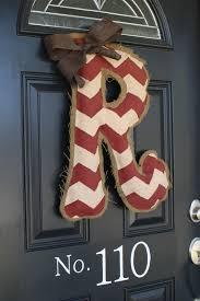 DIY Burlap Door Hanger Tutorial...Materials Needed: Burlap, Hot ...