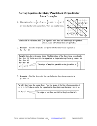 solving equations involving parallel and perpendicular lines