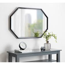 elongated octagon frame wall mirror