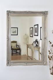 Large Silver Ornate Shabby Chic Wall Mirror 5Ft X 4Ft 149cm X 119cm 4X3 Ft  Glass