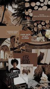 color brown aesthetic collage ...