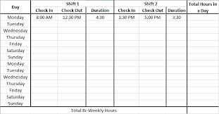Time Card Calculator Bi Weekly With Lunch Time Card Calculator With Lunch Break Dremployee