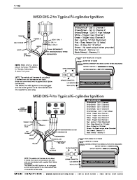 msd ignition wiring diagrams installation instructions part 2 · msd dis 2 to typical 4 cylinder ignition