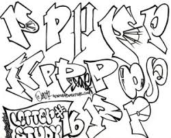 graffiti letter p