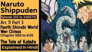Naruto Shippuden Arc 11 Fourth Shinobi World War Climax Part 3 Episode 333  to 340 Explained in Hindi - YouTube
