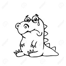かわいい悲しいドラゴンベクトル イラスト面白い漫画のキャラクター