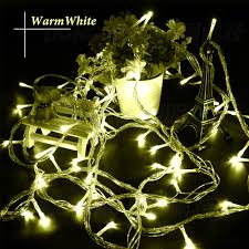Warm Led Tree Lights Us 49 11 5 Off 10m 100 Led Outdoor String Light Led Christmas Lights Waterproof Holiday Party Decoration Twinkle String Fairy Garland Lighting In