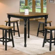 Quails Run Almond Ebony 36″ Square Tall Table – Barr s Furniture