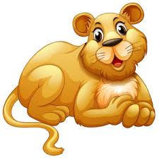 lion face animated. cute lion with happy face illustration animated