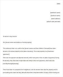 Letter of Re mendation for New Tenant