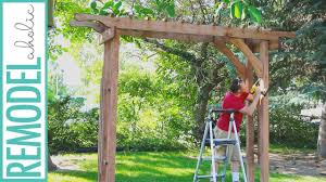 Remodelaholic How To Build Garden Arbor For Backyard Wedding Sorry Diy The Thesorrygirls Decor Drapes Wood Photobooth Photoshoot Summer Flower Girls Arch Floral