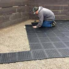 rubber staylock perforated deck tile