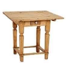 Primitive Kitchen Table In Raw Pine W Drawer Rejuvenation