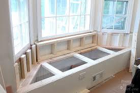 Innovative Under Window Bench Seat Storage Building A Window Seat With  Storage In A Bay Window Pretty Handy