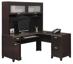 tuxedo l shape computer desk with hutch