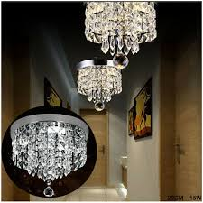 ceiling modern with crystals and