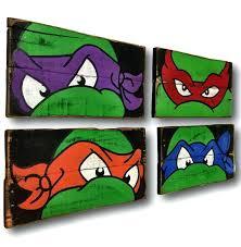 Ninja Turtles Bedroom Teenage Mutant Ninja Turtles Wall Art Turtle ...
