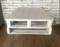Etsy pallet furniture Pallet Table Reclaimed Painted Pallet Coffee Table 60 Uk Stl Etsy Pallet Furniture Etsy