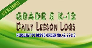 daily lesson log format dll for grade 5 complete daily lesson logs k12 deped philippines