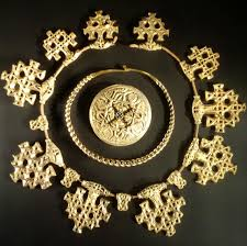 viking jewelry curly on display at the national museum of scotland