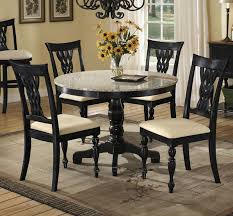 black granite dining room table granite round dining table
