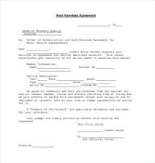 Hold Harmless Agreement Download Documents In Sample Wording Science ...