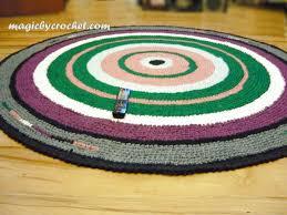 crochet rug large round rug rag rug nursery rug large area rug 210 cm handmade rug no 003
