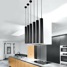 pendant lighting kitchen ed black pendant lamp lights kitchen island dining living room decoration cylinder