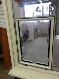 patio door with built in pet door unique doggie door screen