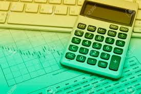Calculator Button Plus On Keyboard And Graph Paper Accounting