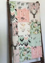 baby quilts baby quilt baby girl quilt woodland baby quilt buck baby bedding