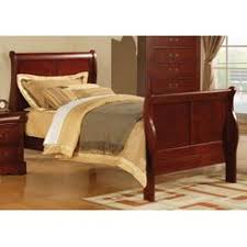 Ashley Cherry Sleigh Bed
