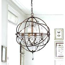 bronze and crystal chandeliers 6 light