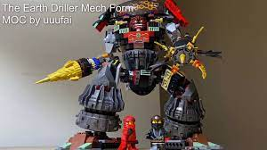 LEGO Ninjago 70669 Cole's Earth Driller Mech Form MOC - Alternative build  by uuufai - YouTube