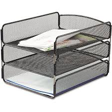 office paper holder. fine office desk organizer letter legal tray office file 3tier mesh paper holder sorter throughout