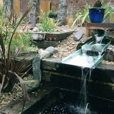 Small Picture Unusual garden water feature Use railway sleepers to create an eye