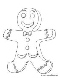 Small Picture Decorated gingerbread man coloring pages Hellokidscom