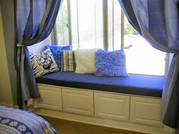 bedroom window seat cushions. Interesting Cushions Bay Cushions For Window Seats With Blue Curtains And Fur Pillows Bedroom Seat S