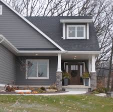 Dark Gray Vinyl Siding And White Trim Houses Here Is Our - Exterior vinyl siding