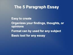 the paragraph essay easy to create easy to create organizes your  1 the 5 paragraph essay easy