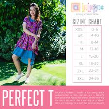 Classic Lularoe Size Chart 37 Rational Lularoe Perfect T Sizing Chart