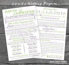 Fun Wedding Programs Fun Wedding Programs Wedding Program Printable Wedding