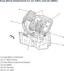 1998 ford truck explorer awd 5 0l mfi ohv 8cyl repair guides fuse block underhood c1 lt gry and c6 brn 2006