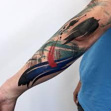 Brush Stroke Tattoo By Tim Mueller Yelp