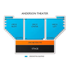 Anderson Center Seating Chart Anderson Theater 2019 Seating Chart
