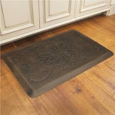 Padded Floor Mats For Kitchen Kitchen Rustic Home Accessory Design Of Dark Brown Rectangular