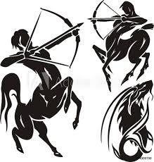 Fotografie Obraz Zodiac Signs Sagittarius Vector Set Posterscz