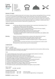 Sample Resume For Cooks